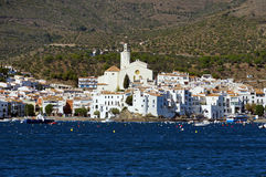 Typical coastal Mediterranean village in Spain Stock Photos