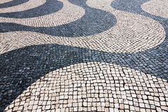 Typical cobblestone in Lisbon, Portugal Royalty Free Stock Images