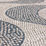 Typical cobblestone in Lisbon, Portugal Royalty Free Stock Photo