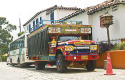 Typical Colombian Bus Royalty Free Stock Photography