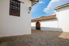 Typical colonial buildings in Villa de Leyva. Colombia Stock Photography