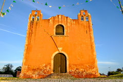 Typical colonial church in rural Mexican village Santa Elena Stock Photography