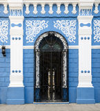 Typical colonial Cuban architecture in Camaguey Royalty Free Stock Photo