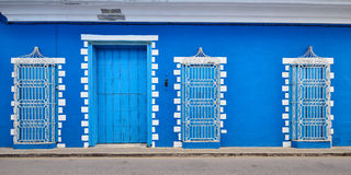 Typical colonial Cuban architecture in Sancti Spiritus Royalty Free Stock Photography