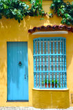 Typical Colonial house, Cartagena, Colombia Royalty Free Stock Images