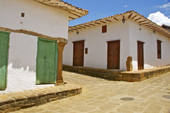 Colonial street. Barichara, Colombia Royalty Free Stock Photos