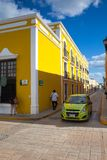 Typical colonial street in Campeche, Mexico. Stock Images