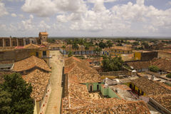 Typical colonial street, Trinidad, Cuba Royalty Free Stock Photos