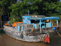 Typical colored boat, mekong delta in Vietnam Stock Photography