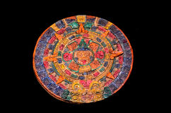 Typical Colored Clay Maya Calendar Royalty Free Stock Photo