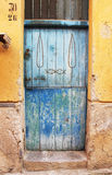 Typical colored door, from sicily Stock Image