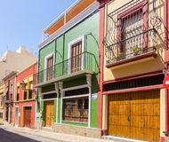 Typical colored houses in Almeria, Spain Stock Image