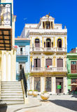 Typical colorful buildings in Old Havana Stock Photography