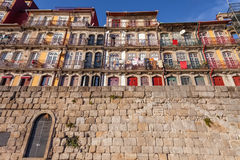 The typical colorful buildings of the Ribeira District in Porto, Portugal Royalty Free Stock Image