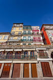 The typical colorful buildings of the Ribeira District in Porto, Portugal Stock Image