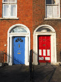 Typical colorful doors houses Dublin Ireland Europe. Typical colorful house apartment doors Dublin Ireland Europe Royalty Free Stock Photography