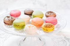 Macarons french pastries Stock Image