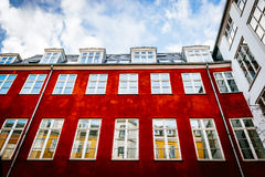 Typical colorful houses and building exteriors in Copenhagen old town Royalty Free Stock Image