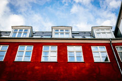 Typical colorful houses and building exteriors in Copenhagen old town Stock Photos