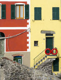 Typical Colorful Houses in Cinque Terre Royalty Free Stock Images