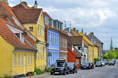 Typical colorful houses in Denmark, Royalty Free Stock Photo