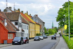 Typical colorful houses in Denmark, Royalty Free Stock Image