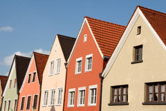 Typical colorful houses in Schongau, Germany Royalty Free Stock Images