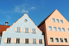 Typical colorful houses in Schongau, Germany Stock Photo