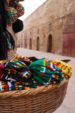 Typical colorful knitted Moroccan hats,El Jadida Stock Image