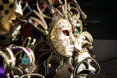 Typical colorful masks from the venice carnival Royalty Free Stock Images