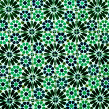 Typical colorful Moroccan ornamental wall background - Lisbon, P Stock Photos