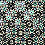 Typical colorful Moroccan, Portuguese tiles, Azulejo, ornaments Royalty Free Stock Photo