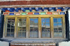 Typical colorful window from Tibet Stock Image