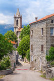 Typical Corsican village street landscape Royalty Free Stock Photo
