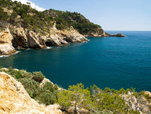 Typical Costa Brava landscape Royalty Free Stock Photos