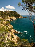 Typical Costa Brava landscape Royalty Free Stock Images