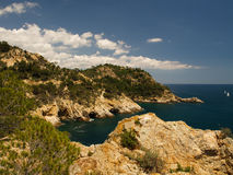 Typical Costa Brava landscape Stock Image
