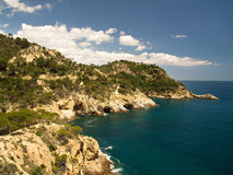 Typical Costa Brava landscape Stock Photography