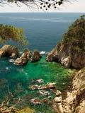 Typical Costa Brava landscape Stock Photos