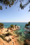 Typical Costa Brava landscape Royalty Free Stock Photo