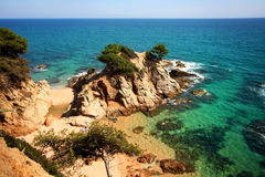 Typical Costa Brava landscape Royalty Free Stock Photo