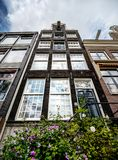 Typical cosy, little Amsterdam buidings. In the centre of the city Royalty Free Stock Images