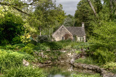 Typical Cotswolds gardens in Bibury Royalty Free Stock Photography