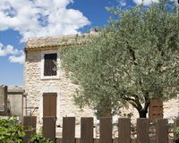 Typical cottage from Provence. Royalty Free Stock Photos