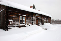 Typical cottage in Sweden Stock Photos
