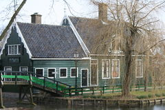 Zaanse Schans Village. A typical country house in the Zaanse Schans village, not far from Amsterdam, Holland Royalty Free Stock Photo
