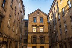 Typical courtyard in the historic center of St. Petersburg Royalty Free Stock Image