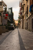 Typical courtyard near the residential house in the Taormina stock photography
