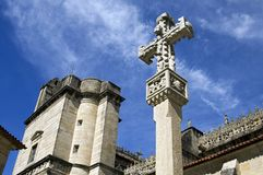 A typical crucifix for the basilica of Pontevedra. Spain, Pontevedra province, region Galicia, city Pontevedra. In the historic city center stands the basilica Royalty Free Stock Photo