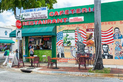 Typical cuban restaurant serving mojitos in Little Havana, Miami Royalty Free Stock Photography